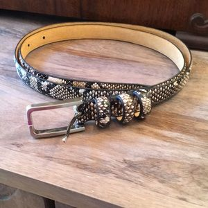 Accessories - Snakeskin Print Belt Size Large Like New
